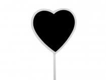 Tabulka zápich obdélník, srdce (6 ks)