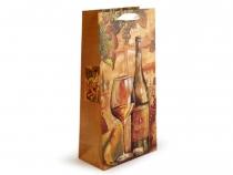 Dárková taška na 2 láhve 18x35 cm (4 ks)