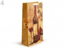 Dárková taška na 2 láhve 18x35 cm (1 ks)