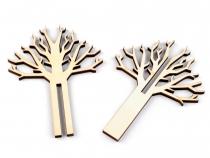 Dřevěná dekorace strom (1 sada)