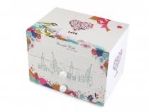 Hrací skříňka šperkovnice 12x13x17,5 cm 2. jakost (1 ks)