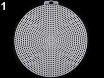 Plastová vyšívací mřížka kruh, hvězda, čtverec (15 ks)