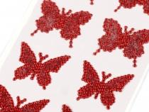 Samolepící dekorace motýl (4 karta)