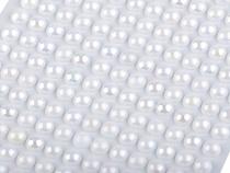 Samolepící perly AB efekt Ø6 mm (1 karta)