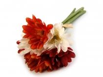 Dekorace květy gerbery 27 cm (6 ks)