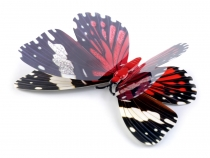 Dekorace motýl 5D samolepící na stěnu (1 karta)