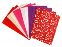 Látková dekorativní plsť mix vzorů a barev 20x30 cm (240 ks)