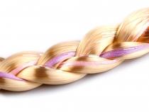 Věneček do vlasů s pleteným copem (1 ks)