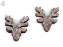 Aranžovací dřevěná dekorace - přírodní (2 ks)