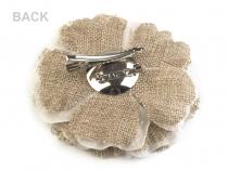 Brož květ s pestíky Ø10 cm krémová nejsvět. 24ks Stoklasa