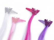 Pramínky do vlasů s pukačkou (4 ks)