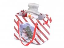 Dekorace sněhulák v dárkové tašce (1 ks)