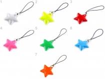 Reflexní přívěsek / taháček hvězda (1 ks)