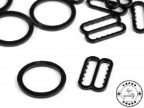 Posunovač a kroužek na prádlo šíře 14 mm (200 ks)
