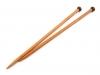 Rovné jehlice č. 10 bambus (1 pár)