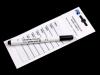 Nažehlovací štítek s popisovačem (1 sáček)