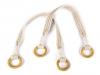 Ucha na tašky proplétaná délka 54 cm s kroužky (2 ks)