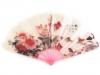 Plastový vějíř s květy (1 ks)