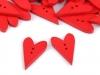 Dřevěný dekorační knoflík srdce (50 ks)