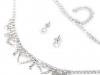 Svatební štrasová souprava s perlami - jablonecká bižuterie (1 sada)