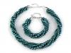 Náhrdelník a náramek z voskovaných perel (1 sada)