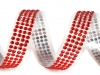 Samolepící páska šíře 13 mm perly a kamínky (1 ks)