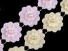 Krajka květ s perlou šíře 40 mm (1 m)