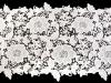 Vyšívaná krajka / běhoun šíře 36 cm off white (1 m)