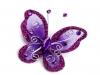 Motýl k našití 5x5,5 cm s kamínky (2 ks)