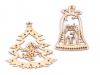 Dřevěné vánoční ozdoby (1 ks)