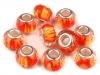 Plastové broušené korálky s velkým průvlekem 9x14 mm (1 ks)