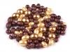 Voskované perly mix velikostí a tvarů (50 g)