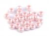 Plastové korálky s velkým průvlekem perleť 6x8 mm (50 ks)