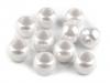 Plastové korálky s velkým průvlekem perleť 11x14 mm (10 ks)