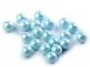 Dekorační kuličky / perly bez dírek Ø6 mm lesklé (20 ks)