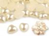 Perlové srdce / perly k nalepení (20 ks)
