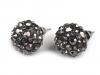 Kovové náušnice shamballa s broušenými kamínky (1 pár)