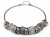 Kovový náhrdelník s drátěnými korálky (1 ks)