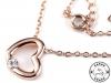 Náhrdelník srdce s broušeným kamínkem (1 ks)