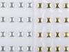Kovové nažehlovací kamínky hot fix na přenášecí fólii zlatá / stříbrná (1 karta)