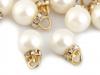 Přívěsek perla s rondelkou Ø16 mm (2 ks)