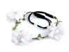 Čelenka s květy a perlami (1 ks)