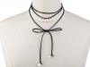 Náhrdelník choker / obojek s perlami (1 ks)