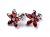 Náušnice květ s kamínky (1 pár)