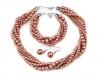 Perlový náhrdelník, náramek a náušnice, sada (1 sada)