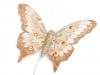 Motýl s glitry a kamínky na drátku (6 karta)