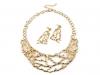 Kovový náhrdelník a náušnice sada (1 sada)