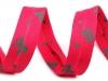 Šikmý proužek polyesterový šíře 14mm zažehlený mašle (15 m)