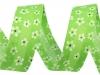 Šikmý proužek šíře 20 mm polyesterový květy (15 m)