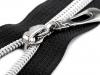 Spirálový zip se stříbrnými zoubky šíře 7 mm délka 50 cm (1 ks)